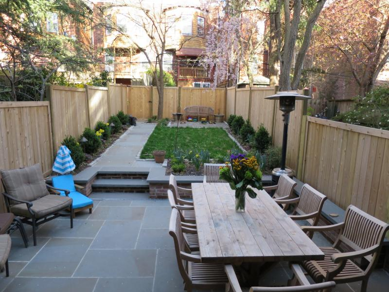 west philadelphia residence urban backyard patio privacy fence